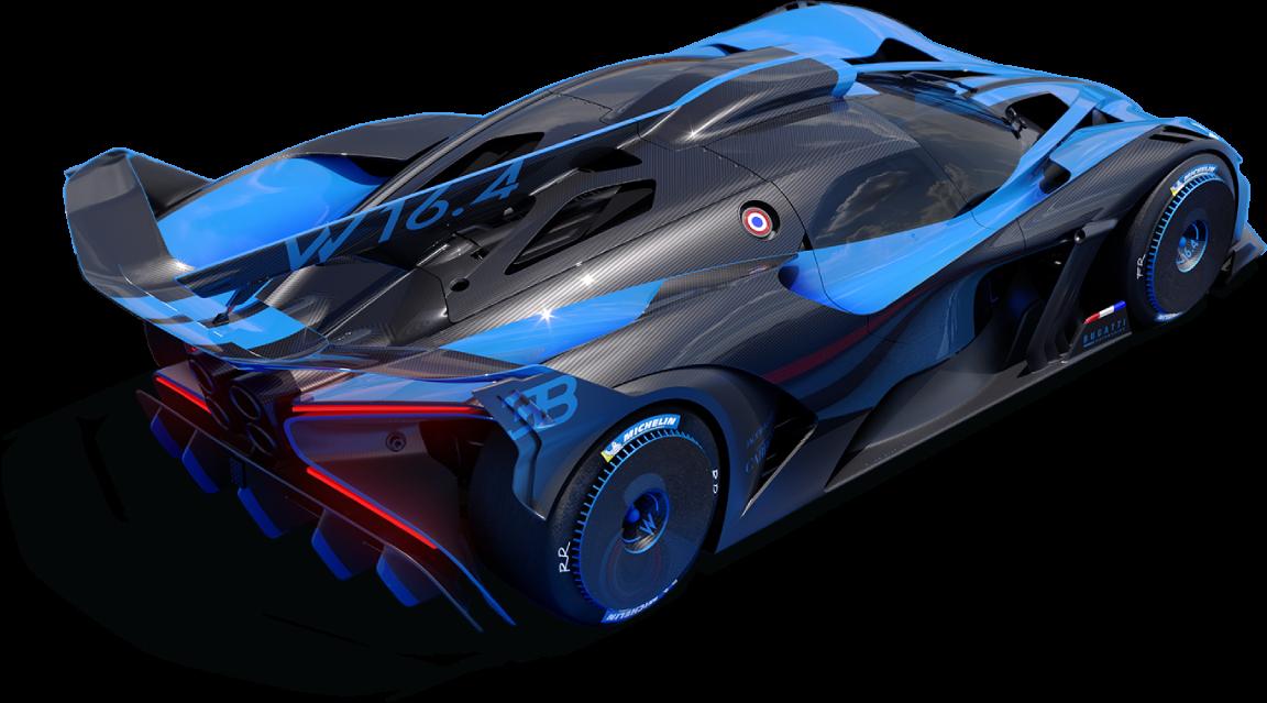 Bugatti Bolide Hypercar Rear third quater