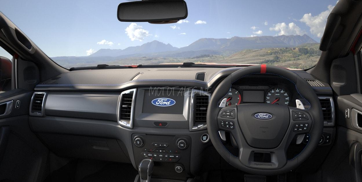 Ford Ranger Raptor Pick-up Dashboard