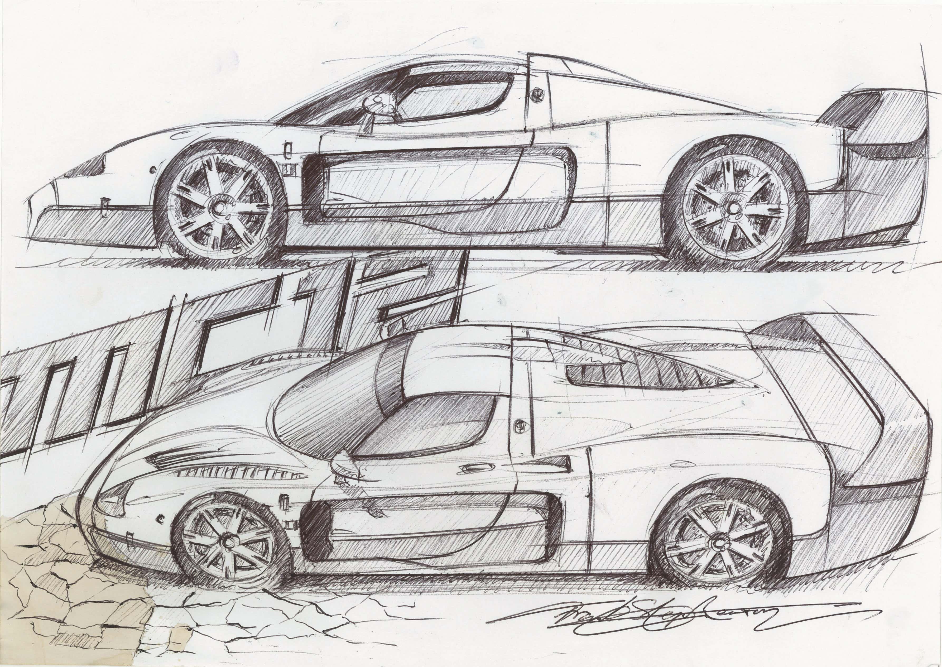 maserati-MC12-Sketch