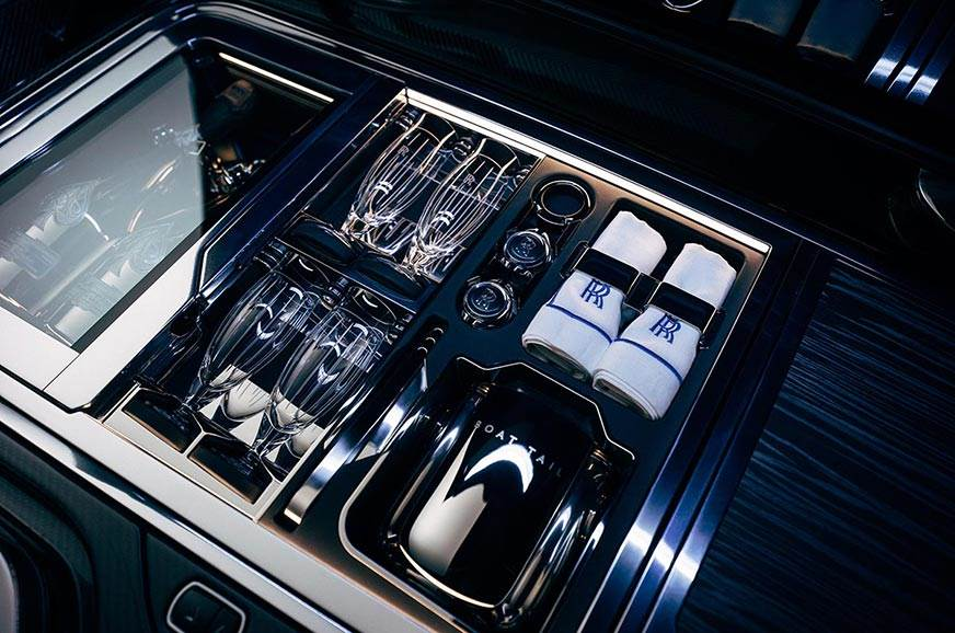 Rolls-Royce-Boat-Tail-Hosting-Suite-with-with-champagne-refridgerator