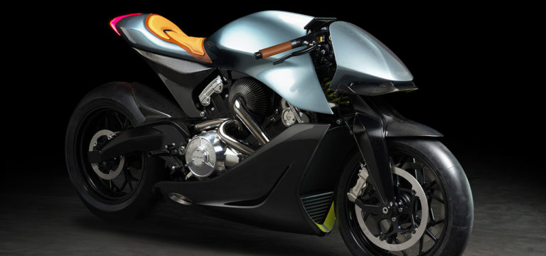 Aston Martin and Brough Superior Limited Edition Motorcycle- AMB 001