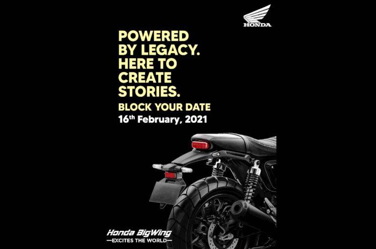 New Honda CB350 based motorcycle coming on Feb 16
