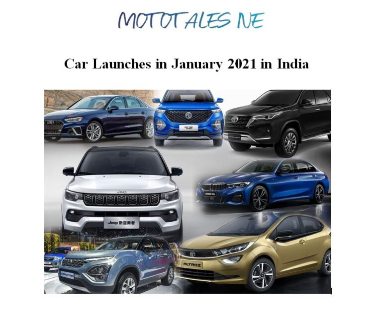 Car Launches In January 2021 In India