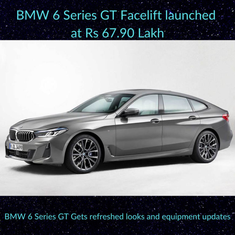 BMW 6 Series GT facelift launched at Rs 67.90 Lakh