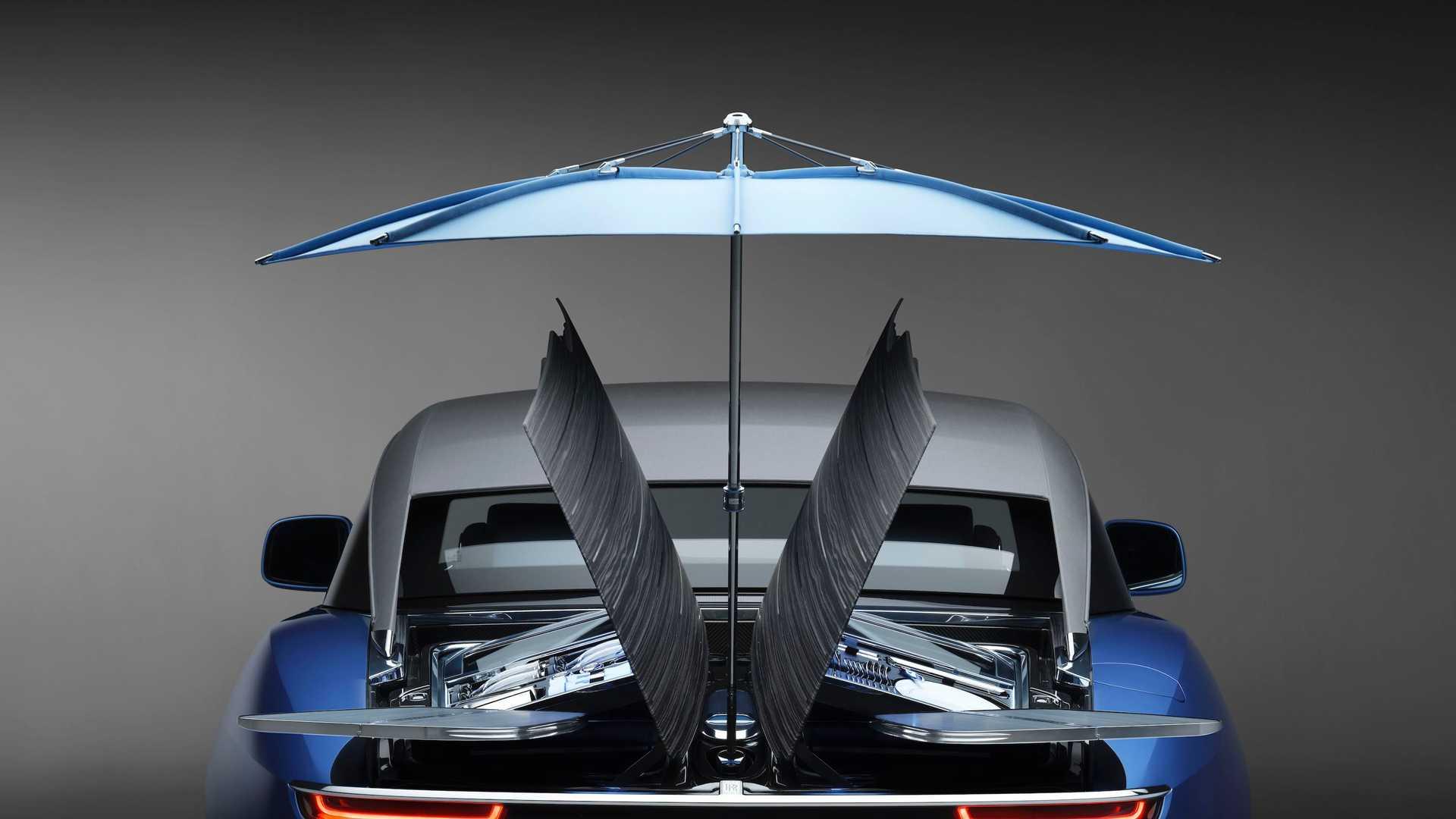 Rolls Royce Boat Tail rear wooden deck