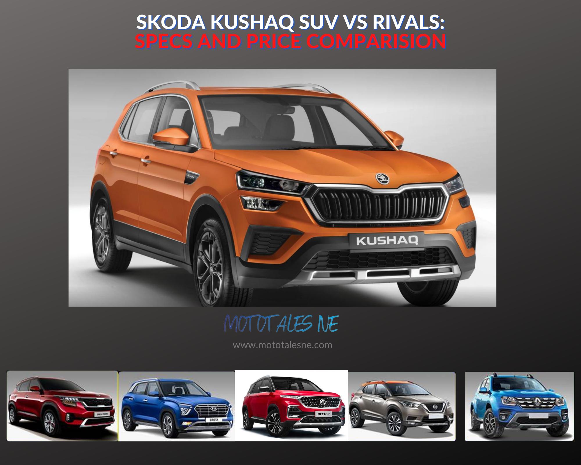 Skoda Kushaq vs Rivals comparison