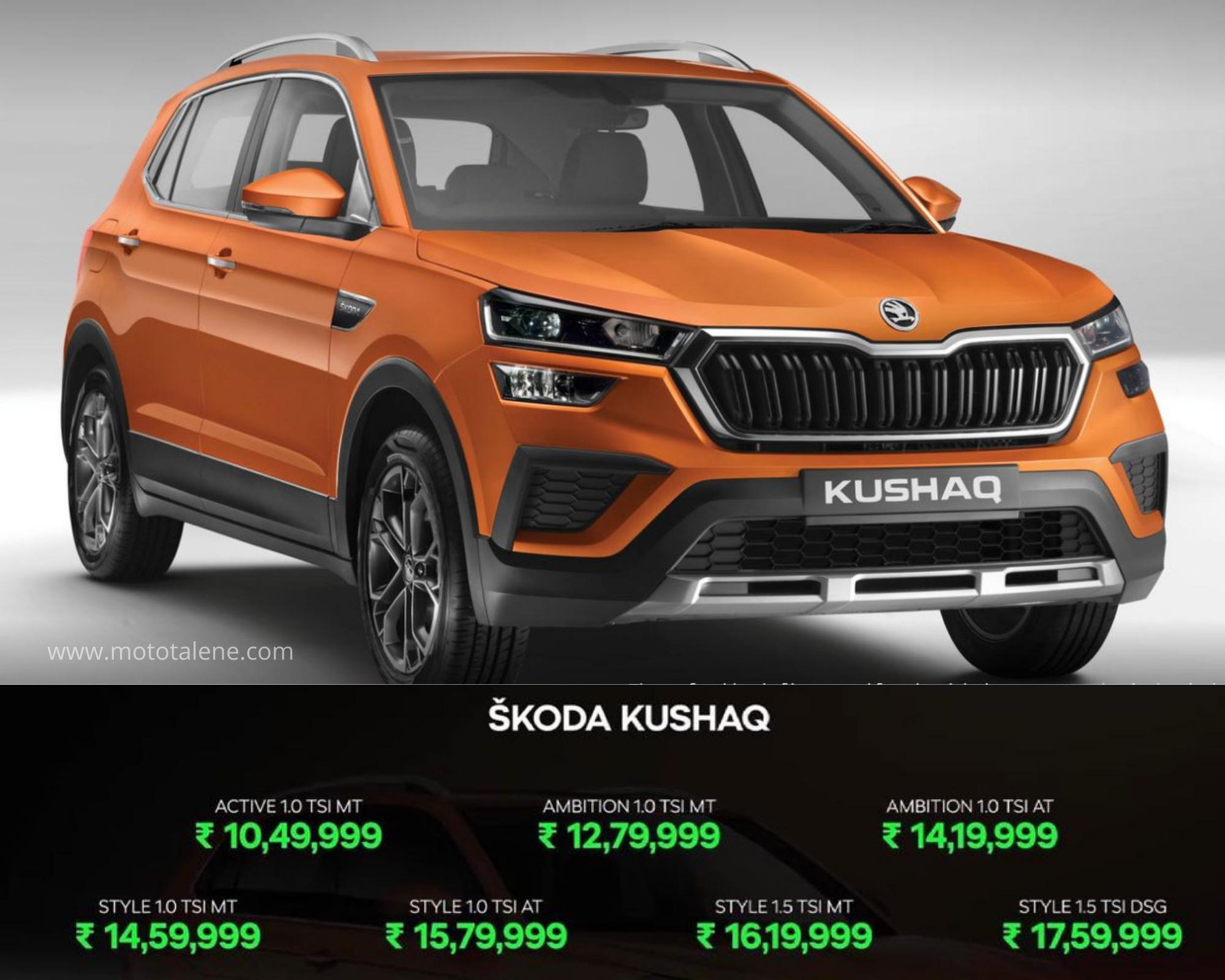 2021 Skoda Kushaq SUV Launched