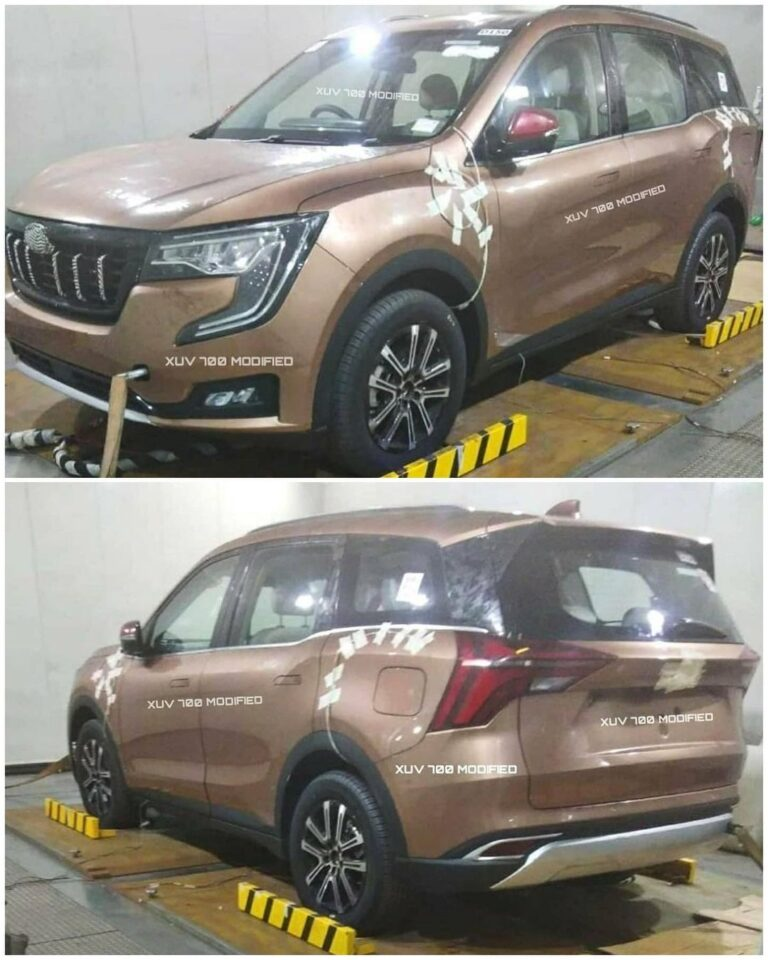Mahindra XUV700 SUV revealed fully undisguised in spy shots